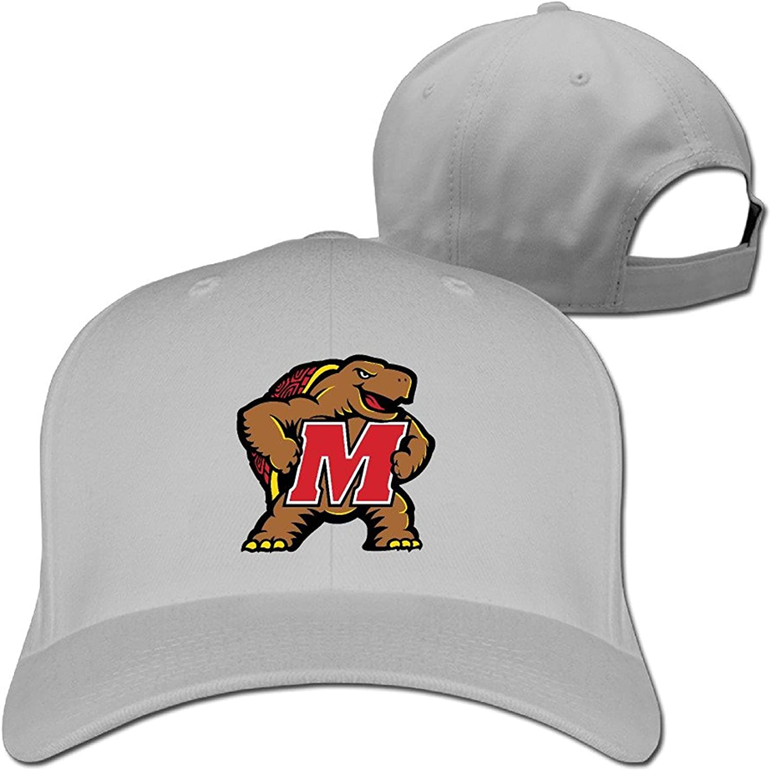 MZONE Novelty University of Maryland UMD Testudo Adult Hip Hop Visor Cap Black