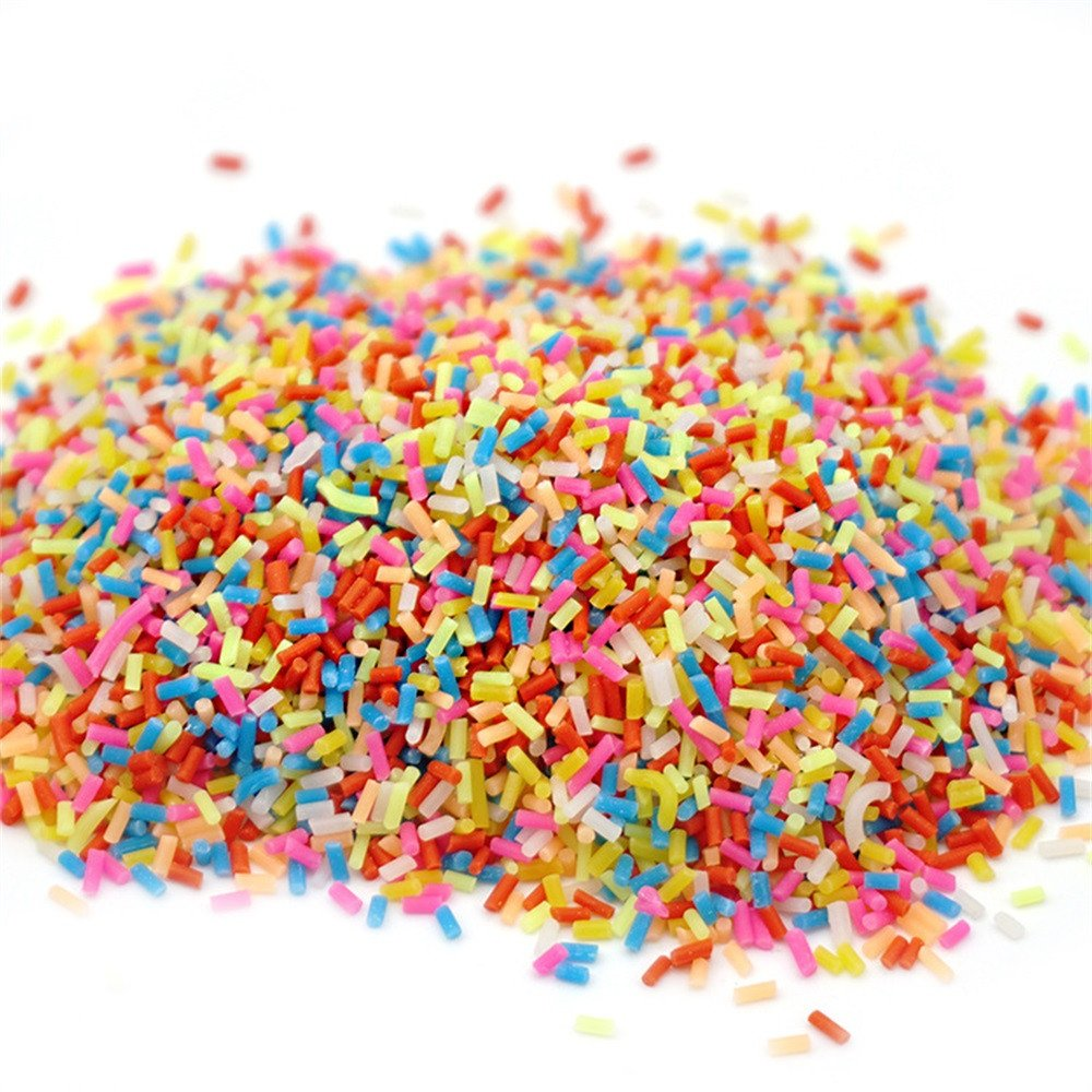 Maonet Colorful Styrofoam Sugar Sprinkles Decorative Slime DIY Craft for Crunchy Slime for Kids Adults Students Party Games DIY Gift (A)