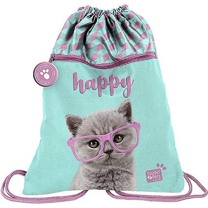 Studio Pets Gatto Happy - Bolsa de Deporte para Gimnasio, 44 ...