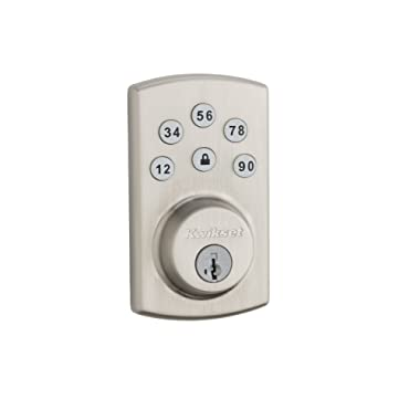 Kwikset 907 Powerbolt 2.0 Electronic Deadbolt featuring SmartKey in Satin Nickel
