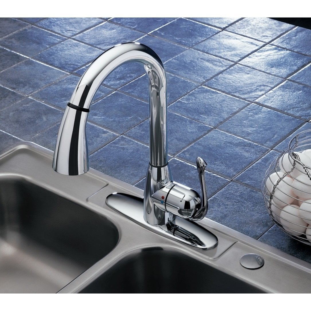 Amazon.com : Monticello Clean-Flo Bell Pull Down Kitchen Faucet ...