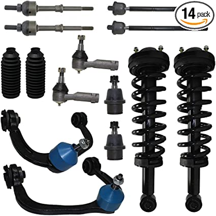 For Ford F-150 4WD Front Struts Spring Assembly Tierod Ball Joint Sway Bar Kit