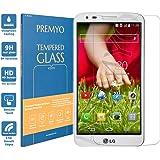 PREMYO verre trempé LG G2. Film protection LG G2 avec un degré de dureté de 9H et des angles arrondis 2,5D. Protection écran LG G2