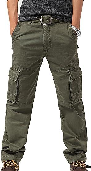 FEOYA - Pantalones de Cargo Militar Pantalones Largos para Hombre ...