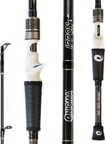 Enigma Fishing IPPON Pro Tournament Series Bass Fishing Rods, Japanese Torray Graphite High Modulus 1 Pc Blanks, Alps Guides Reel Seats, Enigma E Grips, 10 Lengths Actions – Casting Rod
