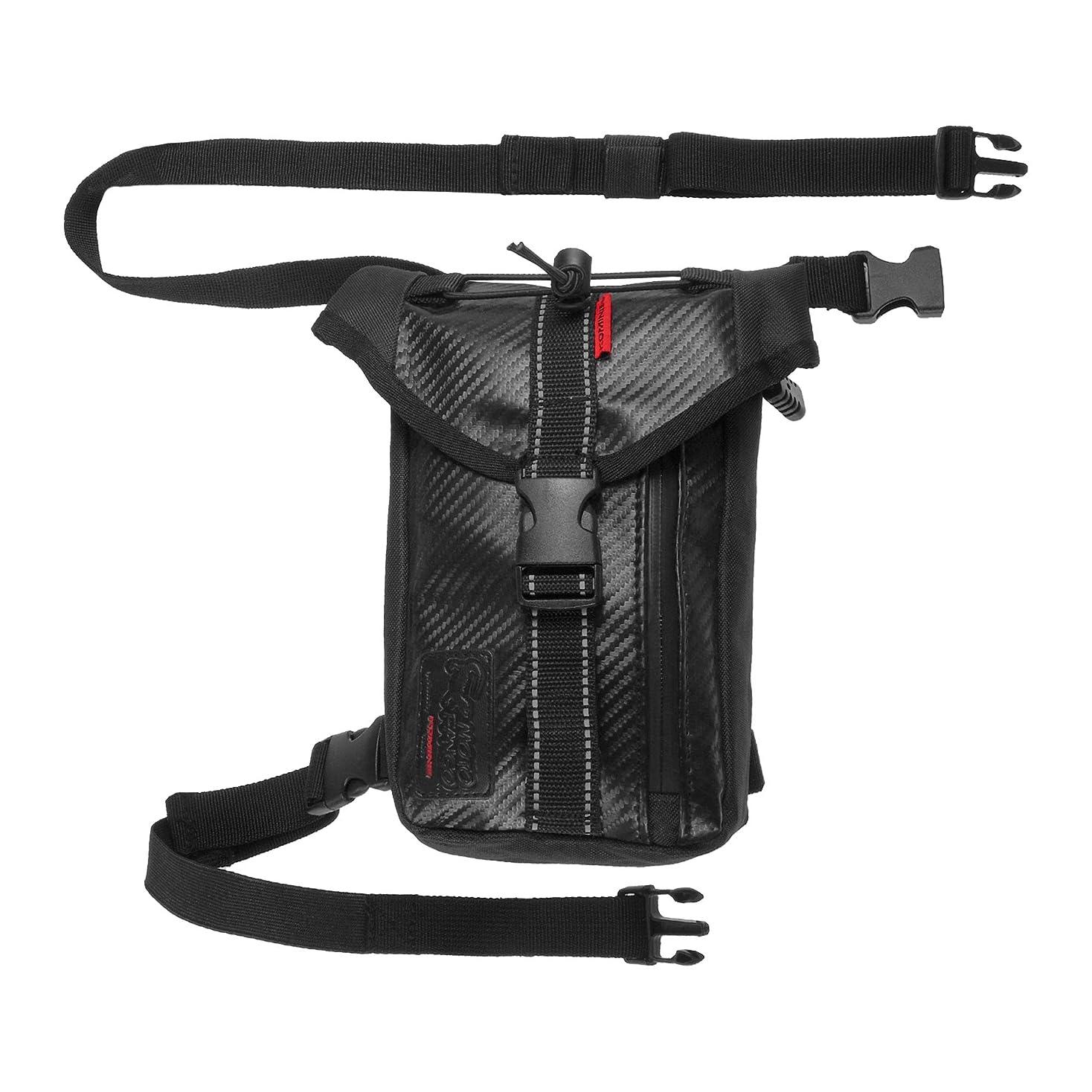 素子堤防アスペクトタナックス(TANAX) Wデッキシートバッグ モトフィズ(MOTOFIZZ) ブラック MFK-139(可変容量18-28?)