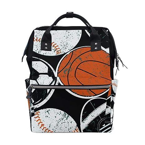 Bolas de deporte fútbol baloncesto bolsa de pañales mochila mamá ...