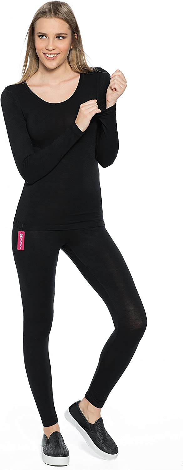 Rubyred ThermaRED Womens Thermal Pants Microfiber Lightweight Soft Warm Cozy Inner-wear Legging