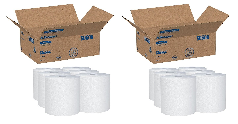 Kleenex 50606 duro rollo Toallas, 8 x 600 pies, 1 3/4