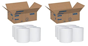 "Kleenex 50606 duro rollo Toallas, 8 x 600 pies, 1 3/4 """