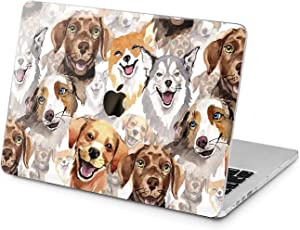 "Cavka Hard Shell Case for Apple MacBook Pro 13"" 2019 15"" 2018 Air 13"" 2020 Retina 2015 Mac 11"" Mac 12"" Dog Design Protective Funny Puppy Laptop Plastic Watercolor Especial Cover Print Cute Animal"