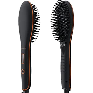 AsaVea Hair Straightener Brush 4th Generation with built in premium anion generator,lighter and smaller
