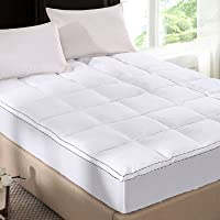 Royal Comfort 1000GSM Luxury Bamboo Gusset Mattress Pad Topper and Cover Allergen Free 5cm Queen