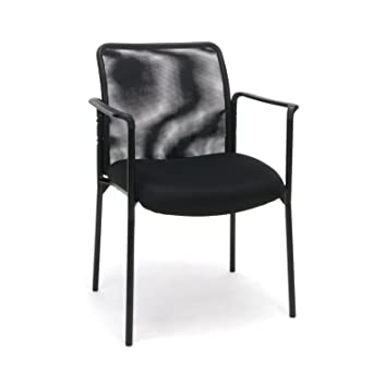 Essentials Mesh Upholstered Stacking Guest/Reception Chair with Arms - Modern Stackable Office Chair  sc 1 st  Amazon.com & Amazon.com: Essentials Mesh Upholstered Stacking Guest/Reception ...