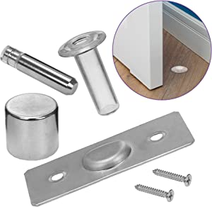 Fantom Magnetic Hidden Door Stop – Patented Concealed Stopper Does Not Protrude Out of Floor - Safe and Elegant Design– Easy to Install On Any Floor Surface or Door