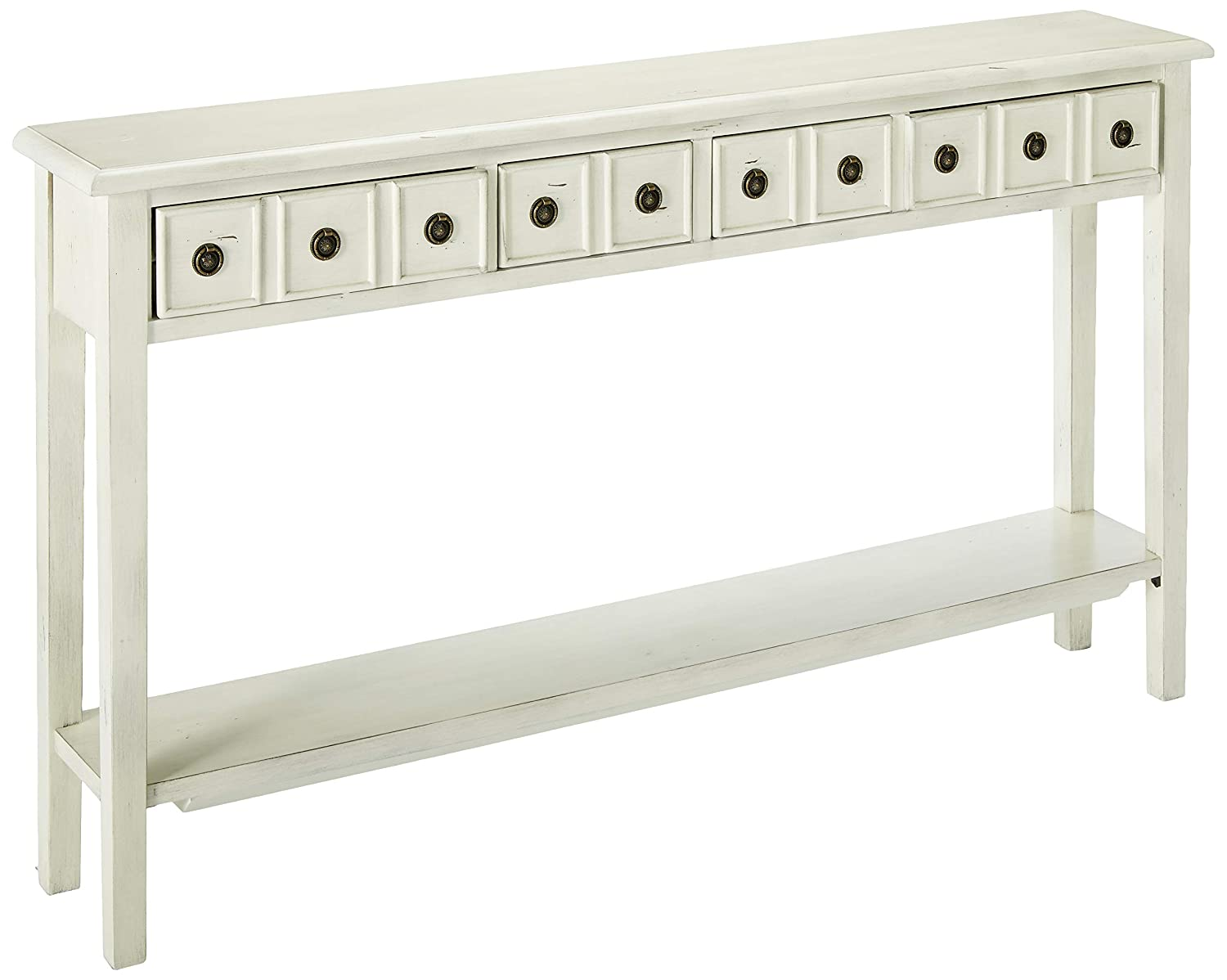 Powell's Furniture 16A8213C Sadie Cream Long Storage Console Table, Multicolor