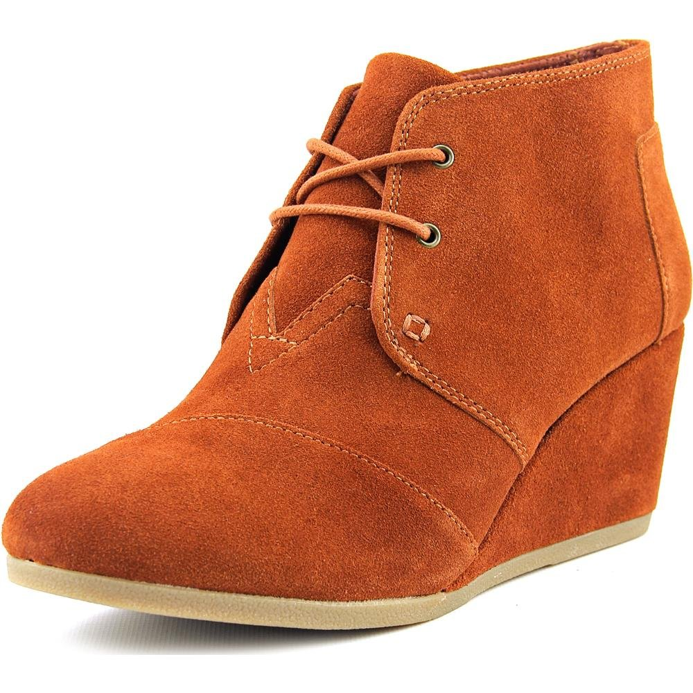 11dcfa8c86d Galleon - TOMS Desert Wedges Cognac Suede 10007308 Women s 9.5