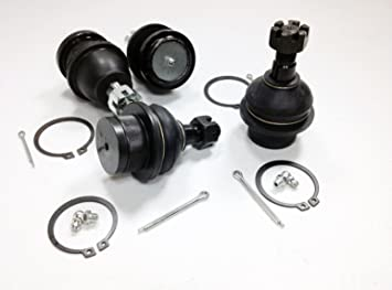 4 Piece Kit Upper /& Lower Ball Joints 4WD Only
