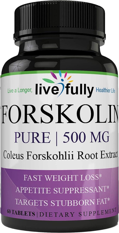 100% Pure Forskolin 500mg Max Strength Premium Grade Forskolin Extract Non-GMO Pure Forskolin Diet Pills, Belly Buster Fat Burner Slim