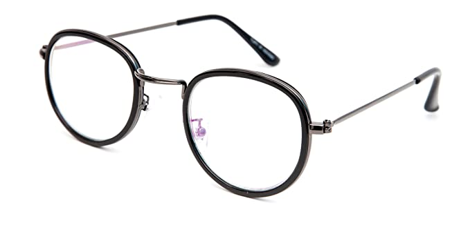ce353971ee3 Image Unavailable. Image not available for. Colour  TheWhoop Black Frame  Eyeglasses Night Vision Round Unisex Spectacle Sunglasses