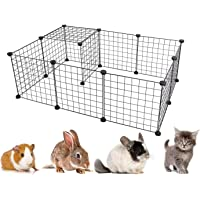 Dotala 12 Panels Metal Pet Playpen Tent Cats Exercise Pen Crate Cage Kennel Dog Foldable Fence Yard Barrier Ideal for…