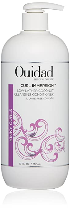 OUIDAD Curl Immersion Low-Lather Coconut Cleansing Conditioner, 16 oz.