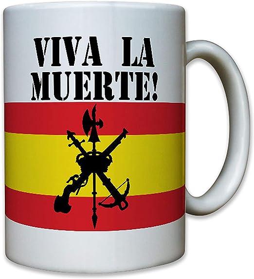 Legión Española Viva la Muerte Legion Skull - Taza #6620: Amazon.es: Hogar