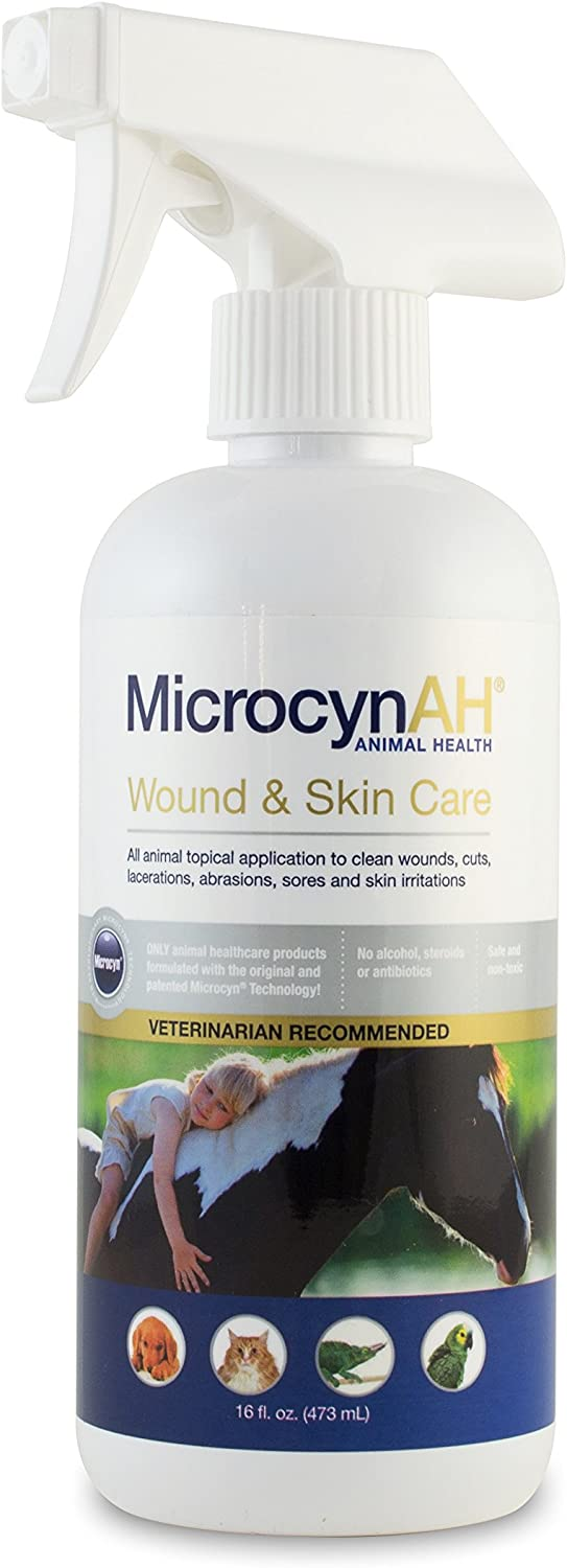 MicrocynAH Wound and Skin Care, 16-Ounce : Pet Supplies