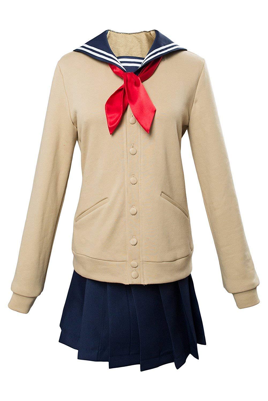 XXL I TRUE ME Boku No Hero Academia My Hero Academia Himiko Toga Cosplay Sailor Kostüm Cross My Body Outfit Beige