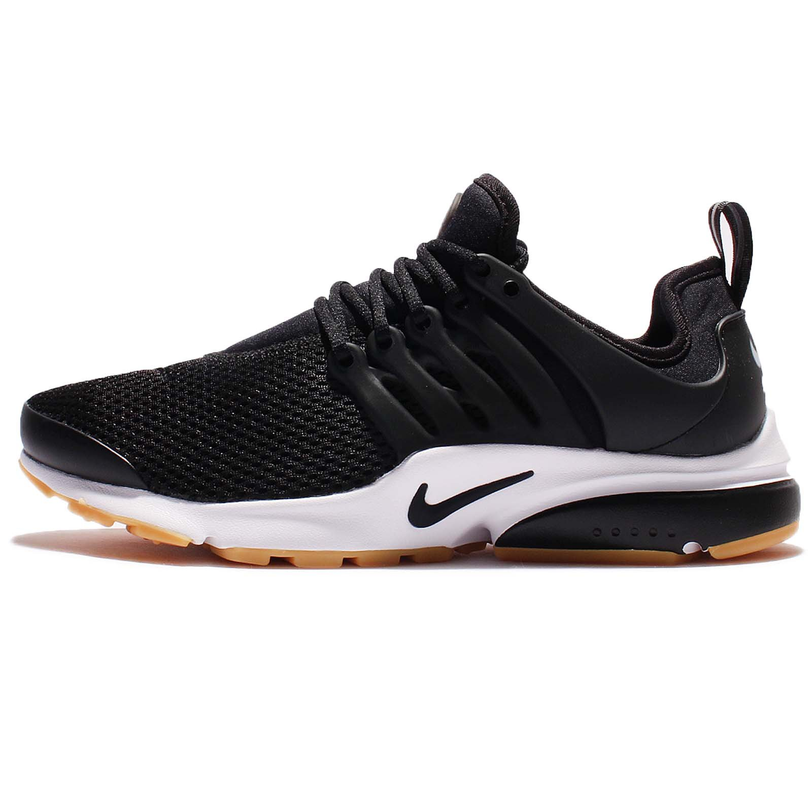 Nike Womens Air Presto Black/White/Gum Yellow/Black Running Shoe Sz, 5 D(M) US