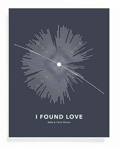 amazon com new star soundwave art print i found love creative