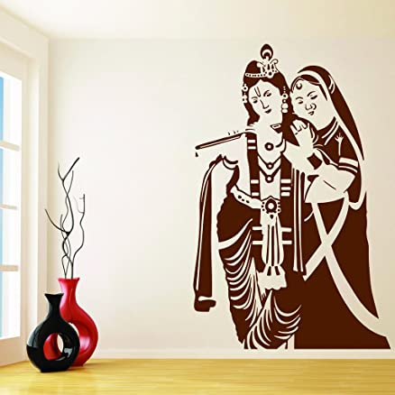 Attractive Wall Sticker Radha Krishna Wall (Wall Covering Area 17 Inch X 23 Inch) Part 30