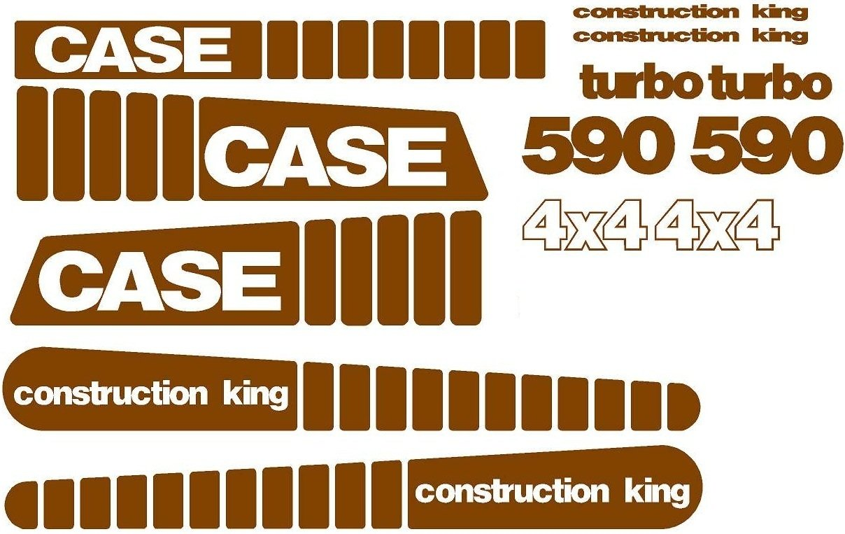 Amazon.com: Decal Set Made for Case 590 Turbo 4 x 4 Construction King Backhoe Loader: Industrial & Scientific
