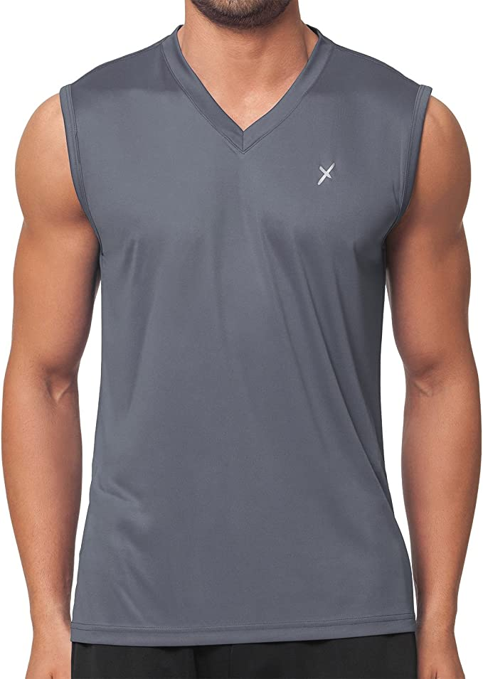 Fitness Muskelshirt S bis XXL Herren T-Shirt Ärmellos Slim Fit Tank Shirt