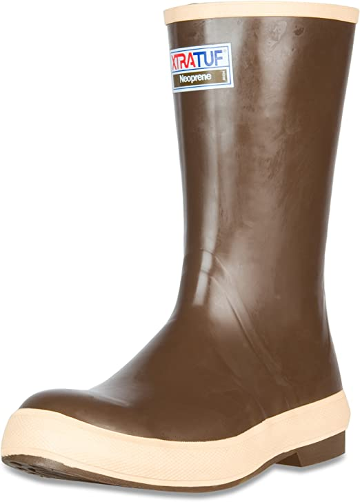 Copper /& Tan XTRATUF Legacy Series 12 Neoprene Mens Fishing Boots 22172G