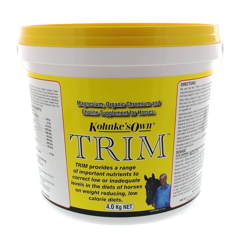 Trim 4kg Kohnke's Own Horse Equine Health Supplement Magnesium Chromium Choline