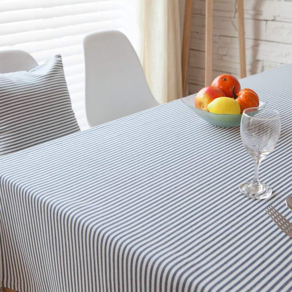 DEED Tovaglia-Tovaglia da tavola in tessuto plaid in tessuto fresco da giardino,B, 140x140cm (55x55inch)