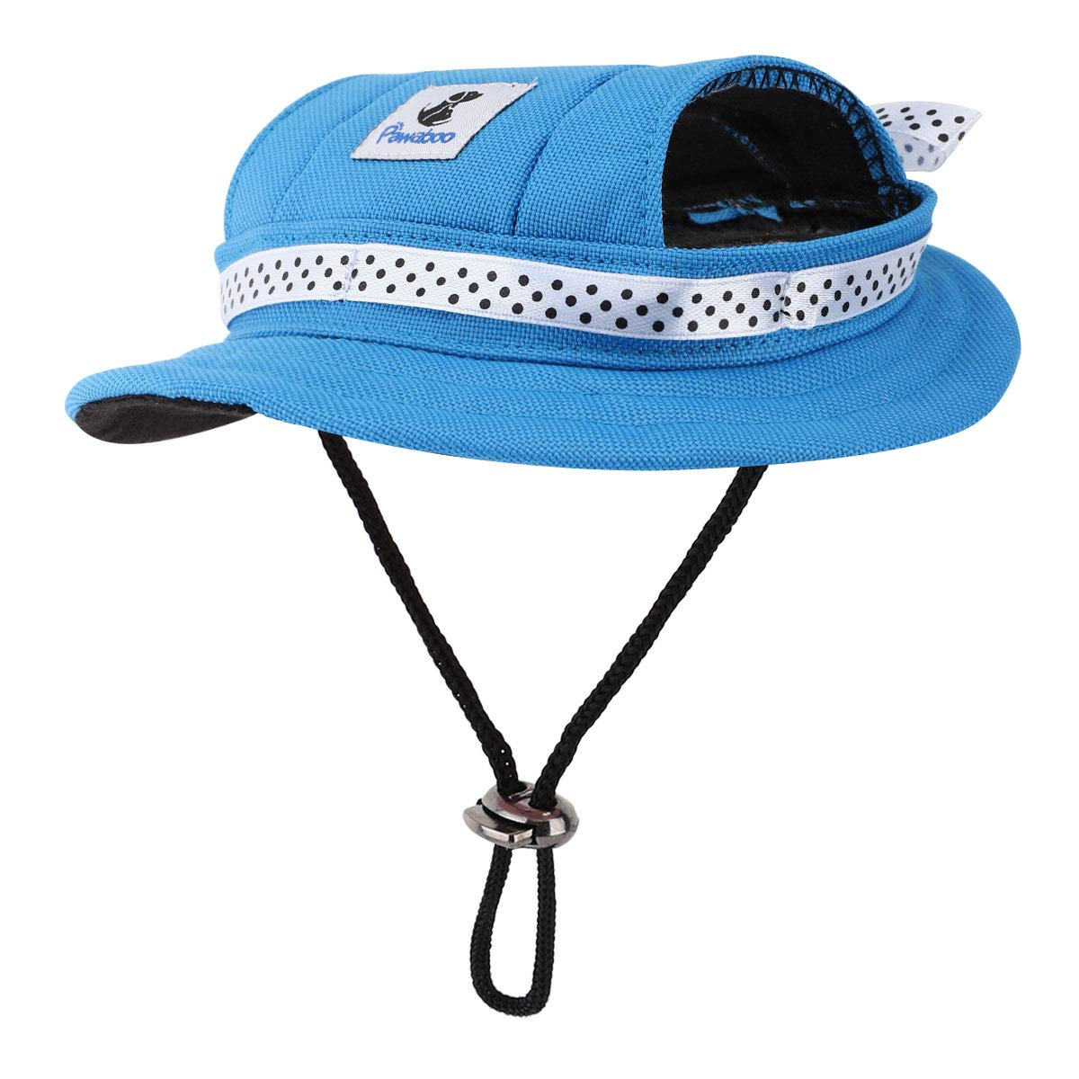 Medium//Blue Round Brim Adjustable Fashion Visor Dog Hat Pawaboo Dog Princess Cap Premium Oxford Fabric Outdoor Sun Protection Sunbonnet Outfit Pet Cap with Ear Holes /& Chin Strap for Puppy Dogs