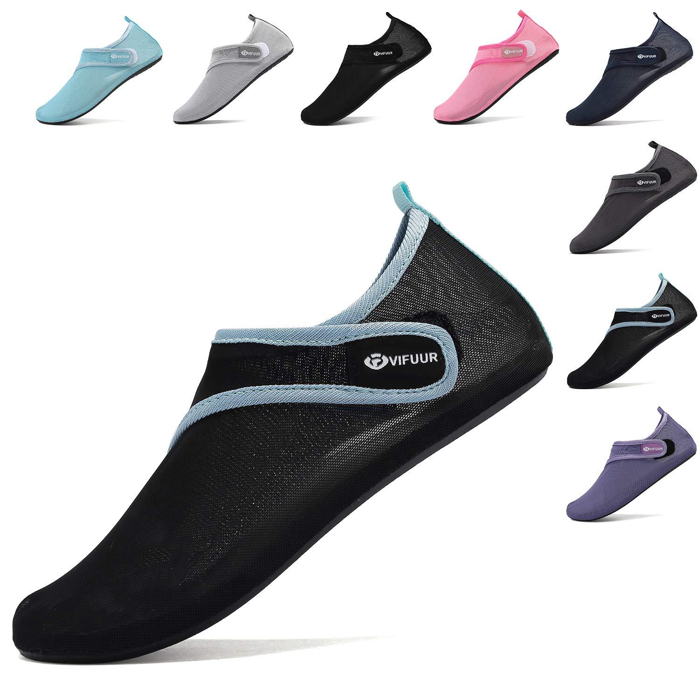 para Hacer Yoga en el Exterior de Malla Zapatillas de Deporte acu/ático para Mujer VIFUUR para la Playa o el Surf Ajustables