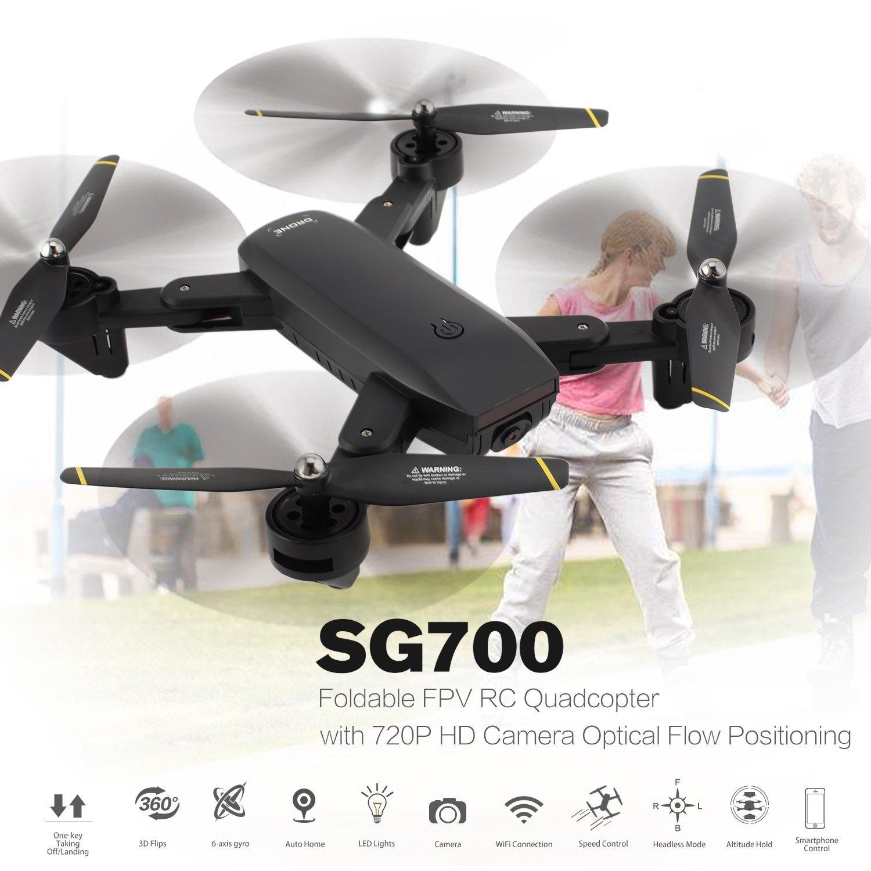 Seleccione de las marcas más nuevas como FairytaleMM SG700 2.4G RC RC RC Quadcopter Plegable FPV con Flujo óptico de la cámara de 720P HD WiFi  ahorra hasta un 30-50% de descuento
