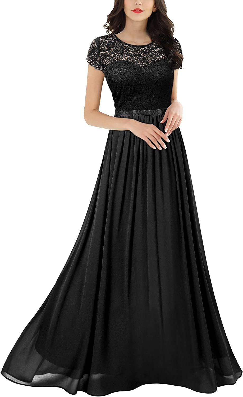 Miusol Women's Formal Floral Lace Bridesmaid High order Dress Wedding Our shop OFFers the best service Maxi