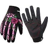 RIGWARL Winter Gloves Skeleton Zombie Bones Design Windproof Waterproof For Riding Biking Climbing Motorcycling Cycling Working Gardening