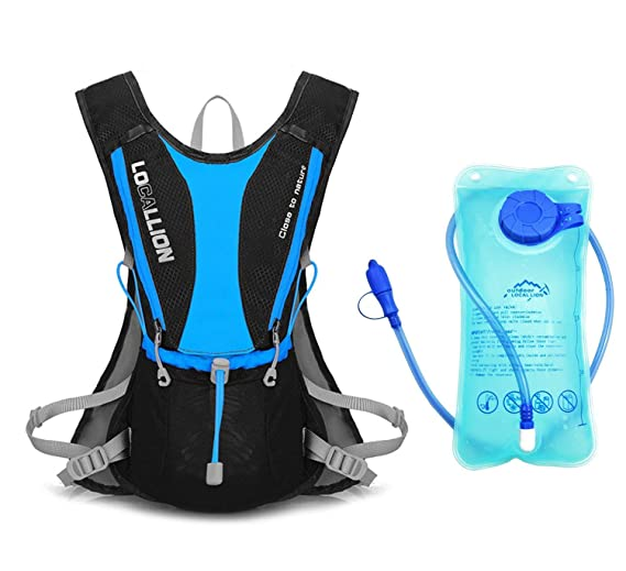 Amazon.com : Sywwlov Hydration Pack Backpack with 1L Water Bladder, Lightweight 5L Hydration Vest Rucksack for Outdoor Camping Cycling Hiking Running ...