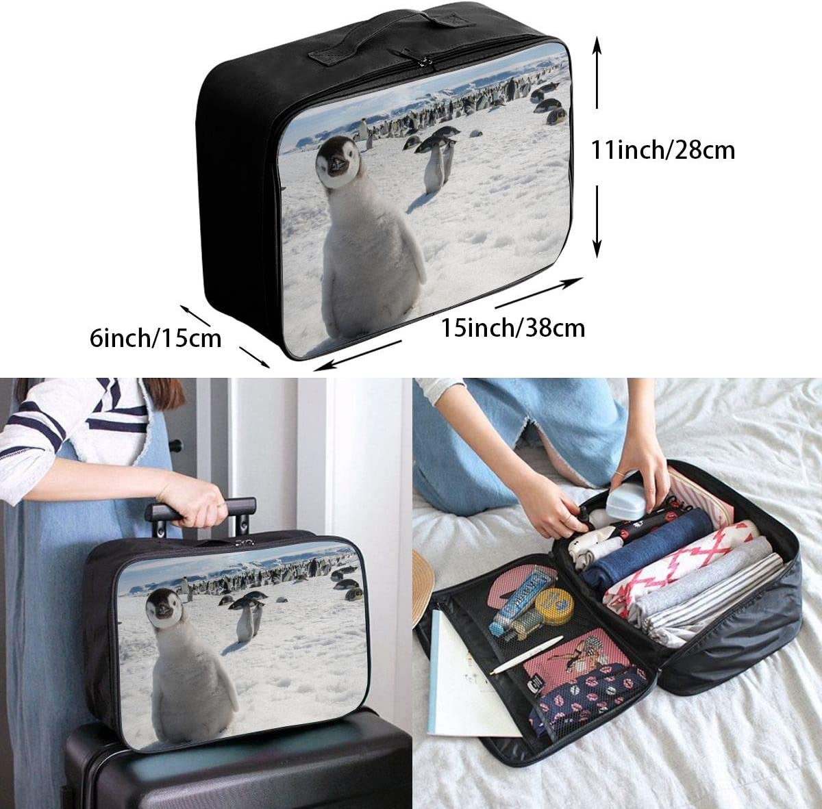 Nature-animals Travel Carry-on Luggage Weekender Bag Overnight Tote Flight Duffel In Trolley Handle