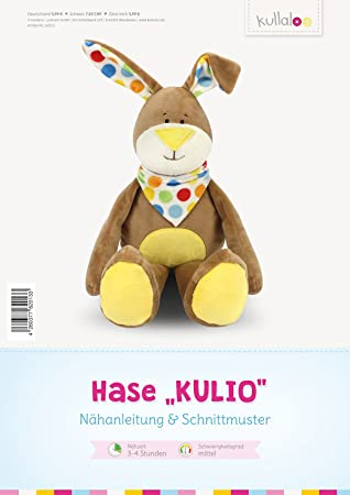 kullaloo - Schnittmuster & Nähanleitung für Kuscheltier Hase \