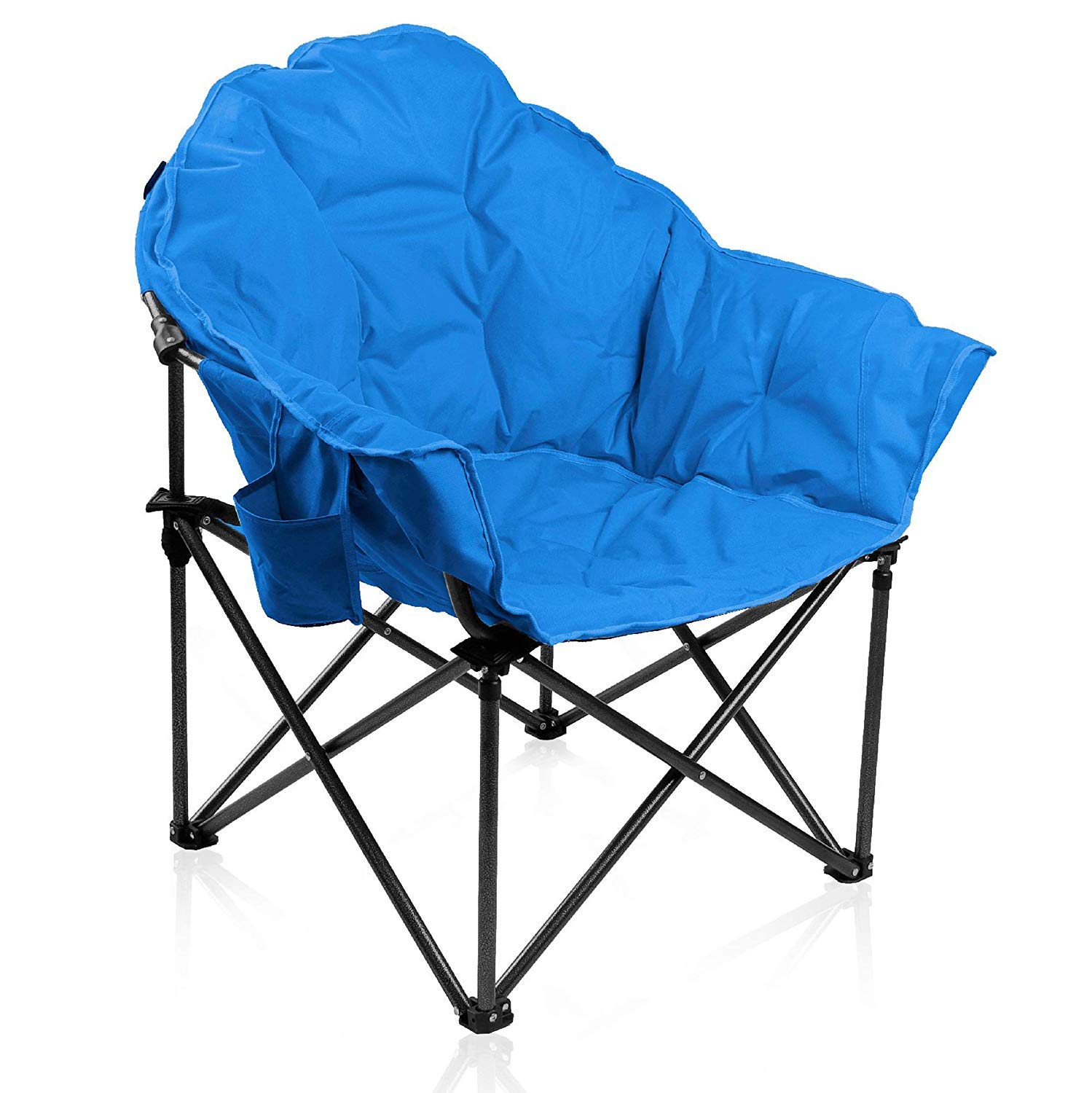 ALPHA CAMP Oversized Camping Chairs Padded Moon Round ...