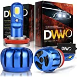 DWVO H8 H11 Led Headlight Bulb,6.5K 16000Lm Philips Chip All-in-One Conversion Kit Hi/Lo Beam Super Bright Dual Color IP68 Waterproof Yellow & White Led Bulbs-3 Yr Warranty