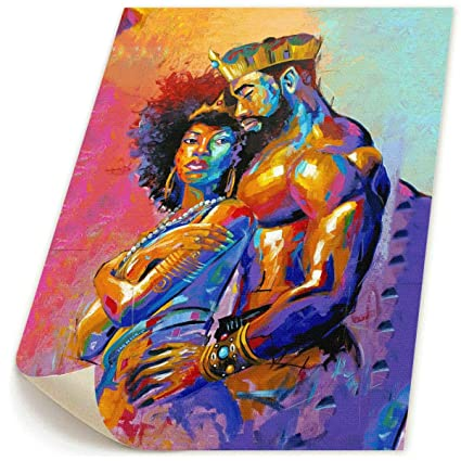 Amazoncom Okoart 18x22 Canvas Wall Art Prints African Queen And