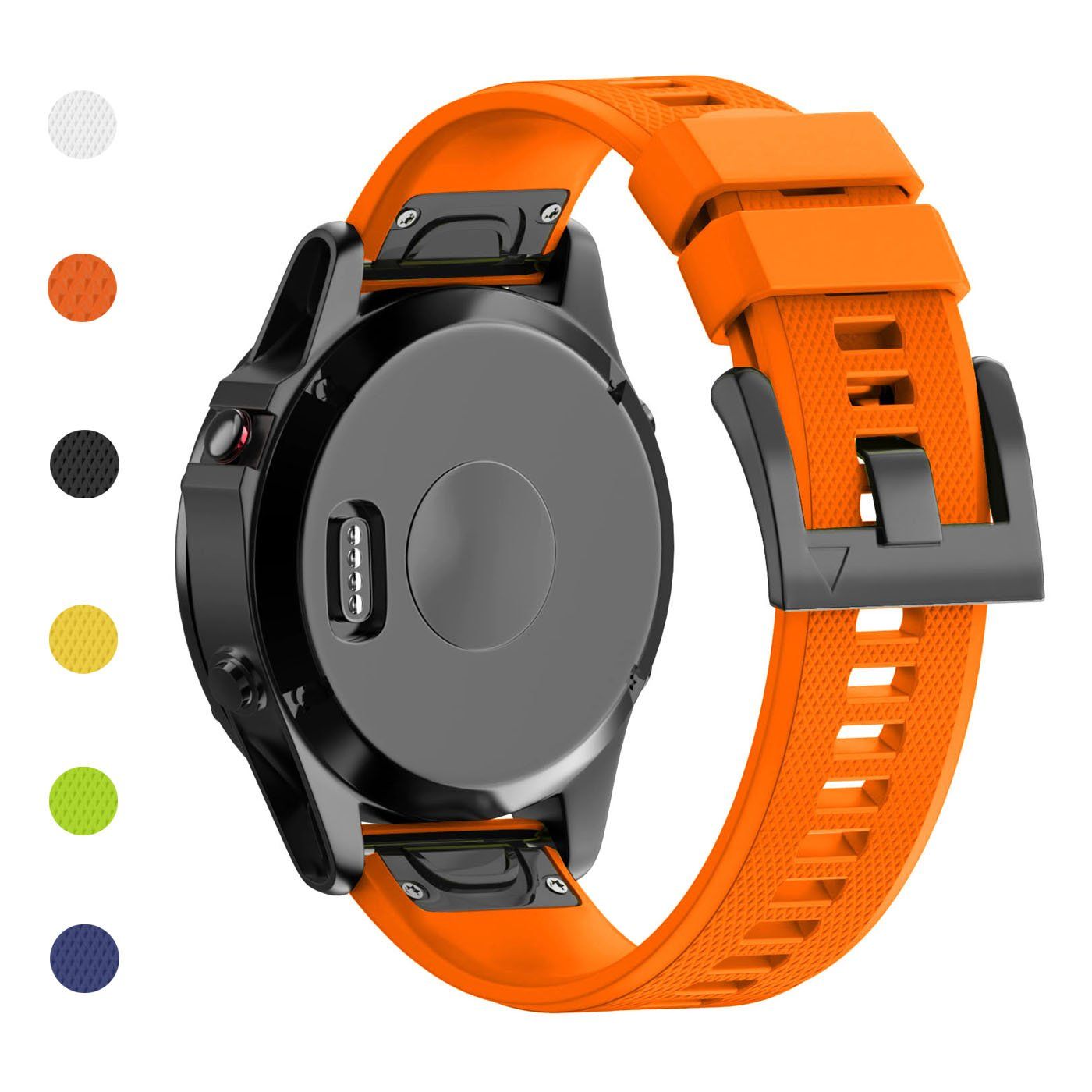 Fashioneey Compatible for Garmin Fenix 5 Band,Quick Release 22mm Silicone Smart Watch Replacement Strap Compatible for Garmin Fenix 5 / Forerunner 935
