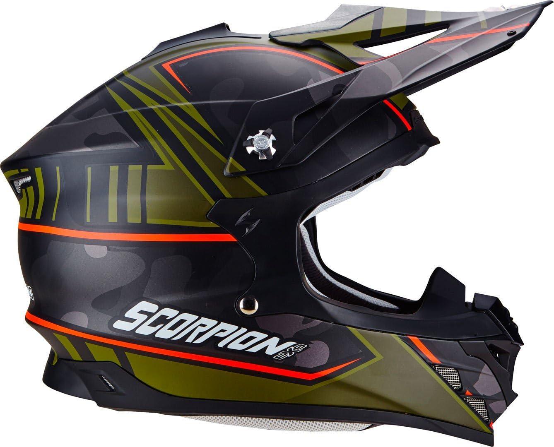 Blue//Green XL Scorpion Helm Motorrad vx-15/Evo Air kistune